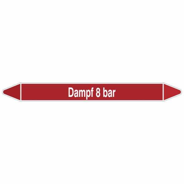 Brady Rohrmarkierer mit Text Dampf 8 bar