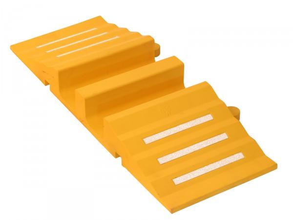 Schlauch- und Kabelbrücke 300 mm, gelb