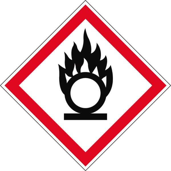 GHS-Gefahrstoffetiketten Brandfördernd - GHS03