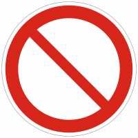 Verbotszeichen Allgemeines Verbotszeichen nach ISO 7010 (P001)
