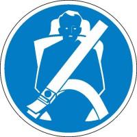 Gebotszeichen Sicherheitsgurt anlegen