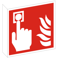 Fahnenschild Brandmelder nach ISO 7010 (F005)