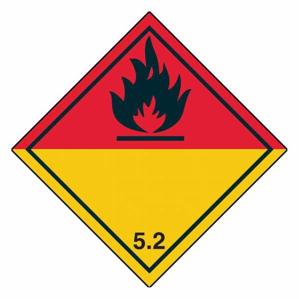 Gefahrzettel Organische Peroxide Klasse 5.2