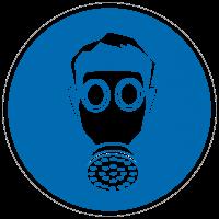 Gebotszeichen Atemschutz benutzen nach BGV A8 (M04)