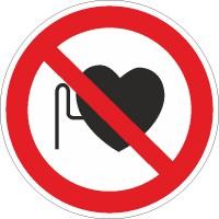 Verbotszeichen Verbot für Personen mit Herzschrittmacher nach BGV A8 (P11)