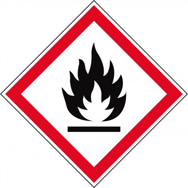 GHS-Gefahrstoffetiketten Entzündlich - GHS02