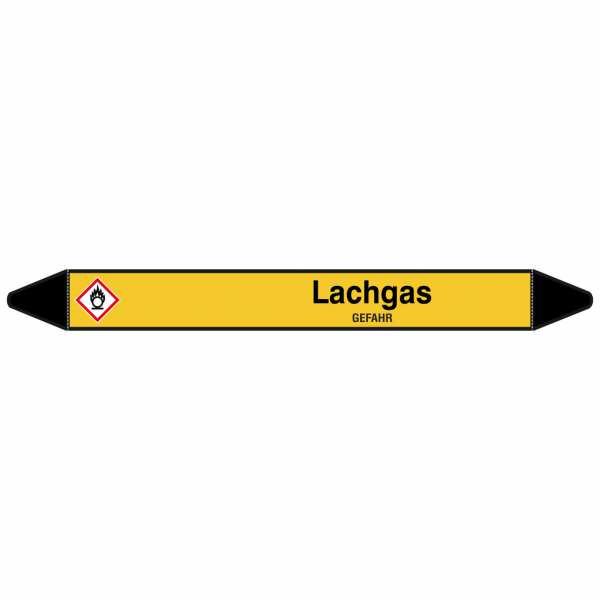 Brady Rohrmarkierer mit Text Lachgas - GEFAHR