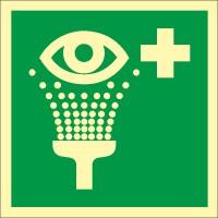 Rettungszeichen Augenspüleinrichtung nach ISO 7010 (E011) / ASR A1.3
