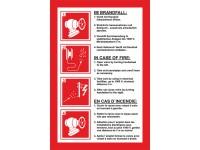Handhabungsfolie Wandhydrant für formfesten Schlauch (mehrsprachig)