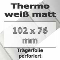 Thermo-Etiketten - weiß matt (930 Stk. auf Rolle)