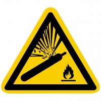 Warnung vor Gasflaschen nach ISO 7010 (W029)