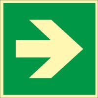 Rettungszeichen Richtungsangabe links/rechts nach ISO 7010 (E005) / ASR A1.3
