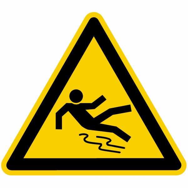 Warnung vor Rutschgefahr nach BGV A8 (W28)