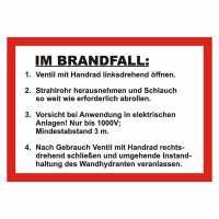 Handhabungsfolie Wandhydrant DIN 14461-1:2016-10 für formfesten Schlauch