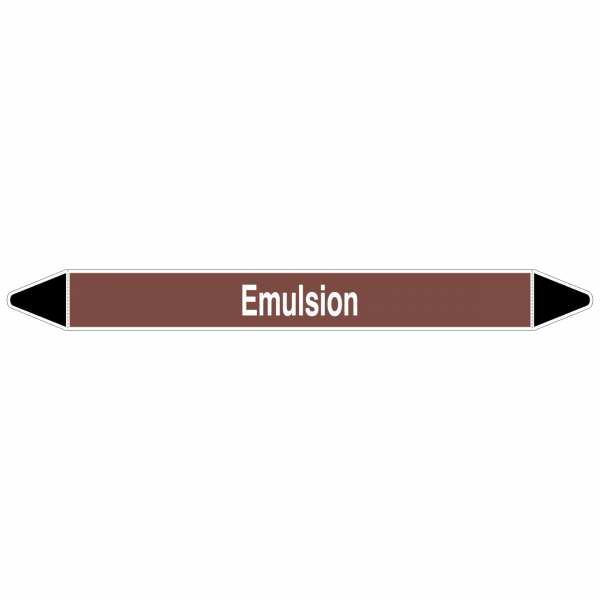 Brady Rohrmarkierer mit Text Emulsion, 250 x 26 mm