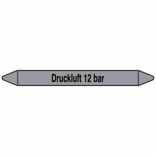 Brady Rohrmarkierer mit Text Druckluft 12 bar in grau