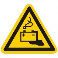 Warnzeichen Warnung vor Gefahren durch das Aufladen von Batterien