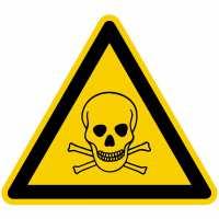 Warnzeichen Warnung vor giftigen Stoffen nach BGV A8 (W03)