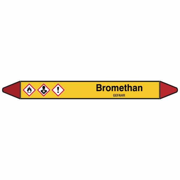 Brady Rohrmarkierer mit Text Bromethan - GEFAHR