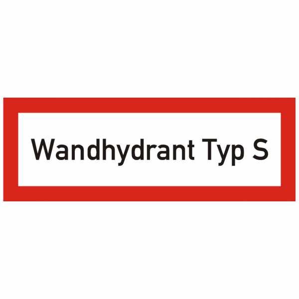 Brandschutzschild mit Text Wandhydrant Typ S