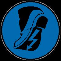 Gebotszeichen Leitfähiges Schuhwerk tragen