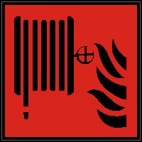 Brandschutzzeichen Löschschlauch (F002) nach ISO 7010