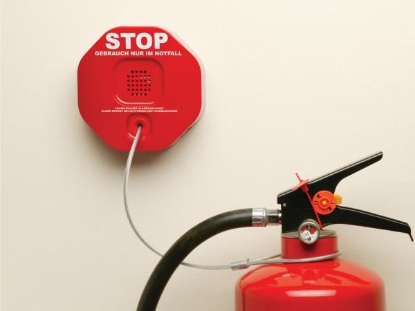 Feuerlöscher Entnahmealarm