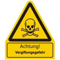 Kombischild Warnzeichen mit Text Achtung! Vergiftungsgefahr