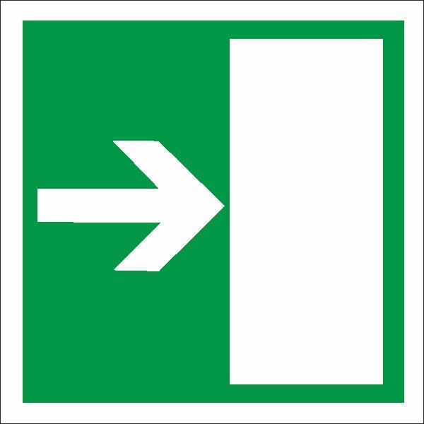 Rettungszeichen Rettungsweg links/rechts nach BGV A8 (E12)