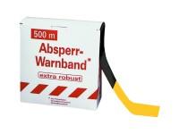 Absperrband -Robust- gelb-schwarz, 500 m