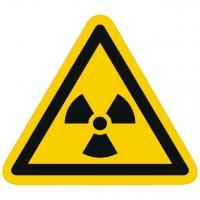 Warnzeichen Warnung vor radioaktiven Stoffen oder ionis. Strahlen