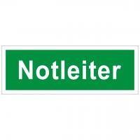 Rettungszeichen mit Text Notleiter