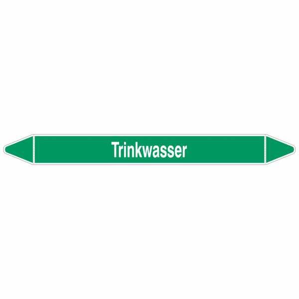 Brady Rohrmarkierer mit Text Trinkwasser