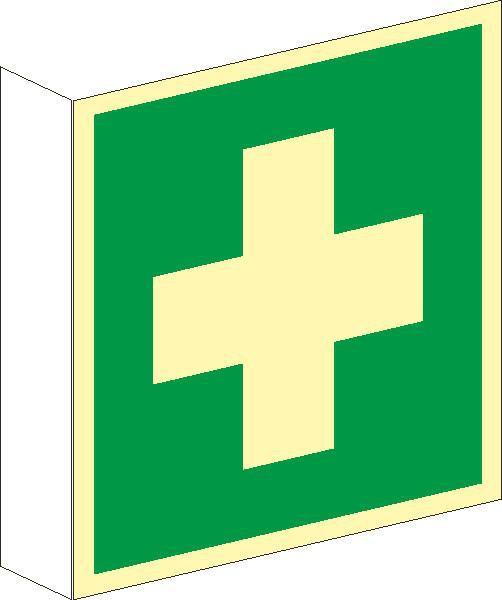 Fahnenschild Erste Hilfe nach BGV A8 (E03)