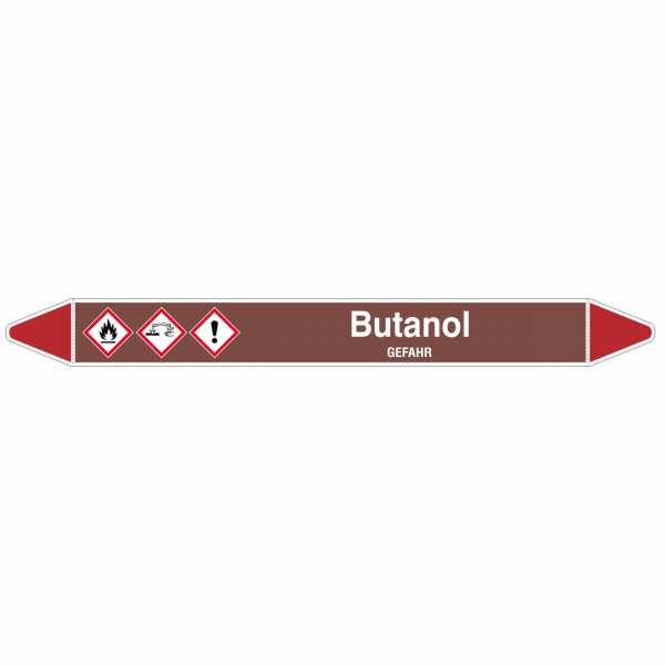 Brady Rohrmarkierer mit Text Butanol - GEFAHR