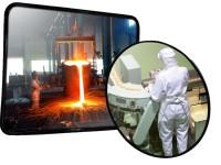 Industriespiegel aus INOX - hitzebeständig bis 350°C