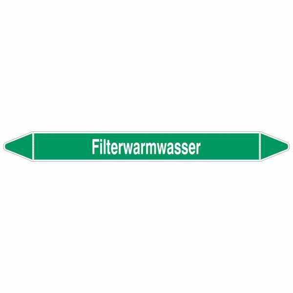 Brady Rohrmarkierer mit Text Filterwarmwasser