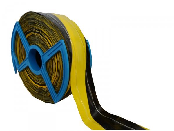 Absperrband -fadenverstärkt- gelb-schwarz, 250 m