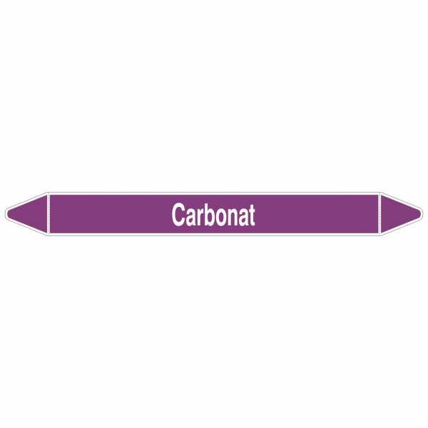 Brady Rohrmarkierer mit Text Carbonat