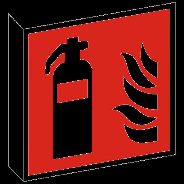 Fahnenschild Feuerlöscher nach ISO 7010 (F001)