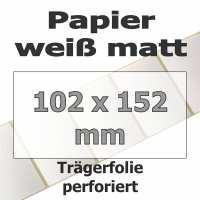Papier-Etiketten - weiß matt (475 Stk. auf Rolle)