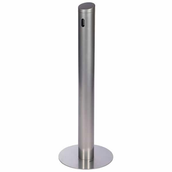 Standascher Smoker aus Edelstahl oder Alu pulverbeschichtet in schwarz oder silber