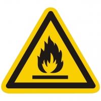 Warnung vor feuergefährlichen Stoffen nach ISO 7010 (W021)