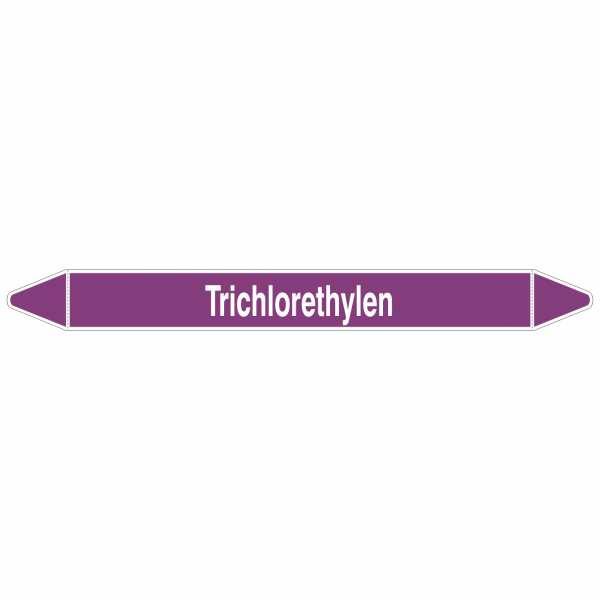 Brady Rohrmarkierer mit Text Trichlorethylen