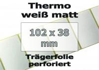 Thermo-Etiketten - weiß matt (500 Skt.)