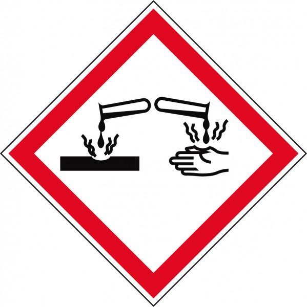 Gefahrensymbol Ätzwirkung GHS05