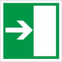 Rettungszeichen Rettungsweg links rechts nach BGV A8 (E12)