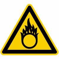 Warnung vor brandfördernden Stoffen nach BGV A8 (W11)