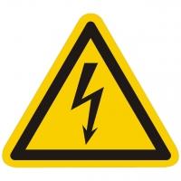 Warnzeichen Warnung vor elektrischer Spannung nach ISO 7010 (W012)