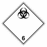 Gefahrzettel Ansteckungsgefährliche Stoffe Klasse 6.2